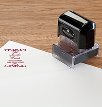 Desktop & Office - Personalized Swirls Stamper