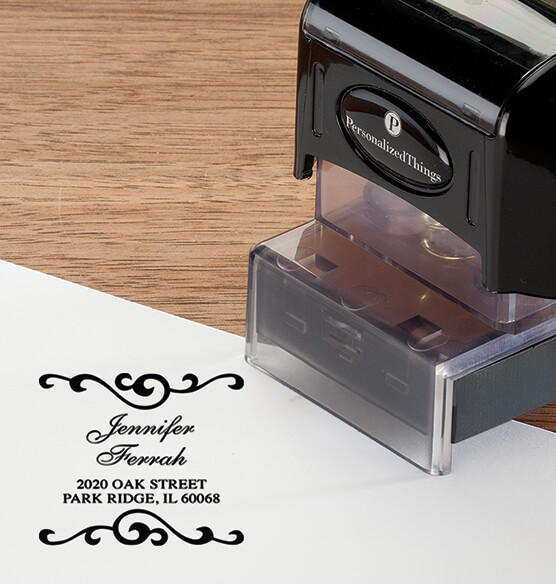 Personalized Swirls Stamper