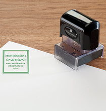 Desktop & Office - Personalized Border Swirl Stamper