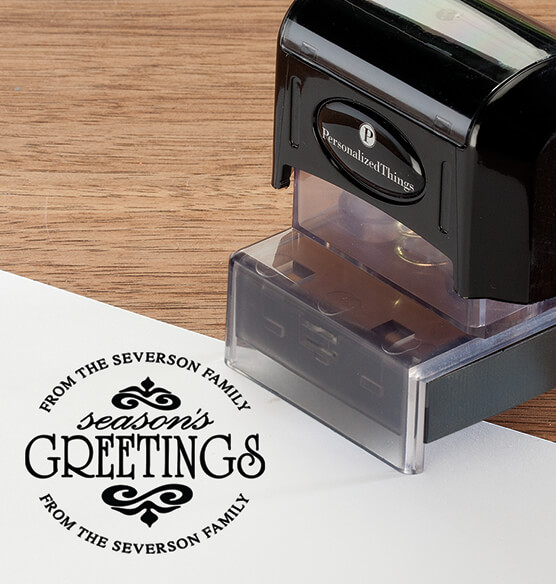 Personalized Season's Greetings Stamper