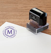 Personalized Initial Stamper   Black