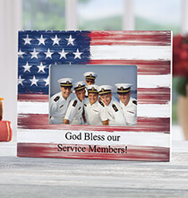Gifts for Veteran's Day - Personalized Stars and Stripes Photo Frame