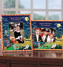 Personalized Haunted Party Halloween Photo Frame