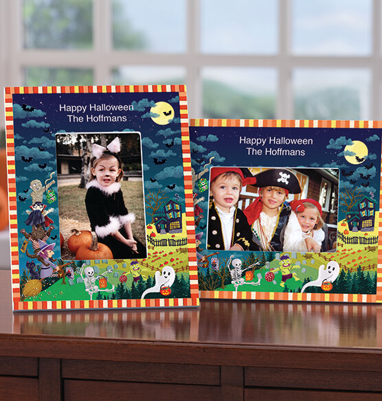 Personalized Haunted Party Halloween Photo Frame - View 1