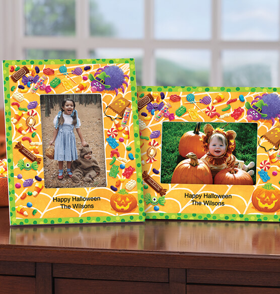 Personalized Halloween Goodies Decorative Photo Frame - View 1