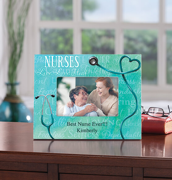 Personalized Nursing Word Art Decorative Photo Frame
