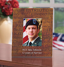 Gifts for Veteran's Day - Personalized Call of Duty Patriotic Wood Photo Frame