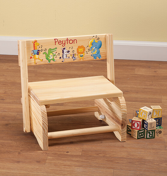 Personalized Children's Musical Animals Step Stool