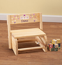 Room Décor - Personalized Children's Princess Step Stool