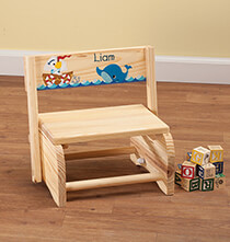 Room Décor - Personalized Children's Ocean Friends Step Stool