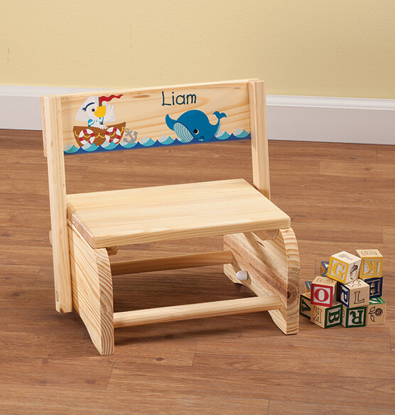 Personalized Children's Ocean Friends Chair/Step Stool