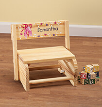 Personalized Children's Ballet Chair/Step Stool