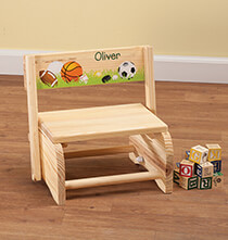 Room Décor - Personalized Children's Sports Chair/Step Stool