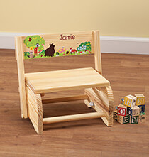 Room Décor - Personalized Children's Woodland Animals Chair/Step Stool