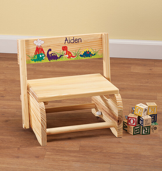 Personalized Children's Dinosaur Step Stool