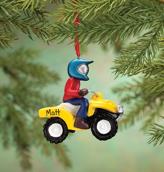 Personalized ATV Ornament