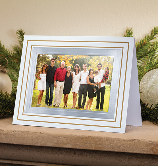 Simply Classic White Photo Christmas Card, Set of 18