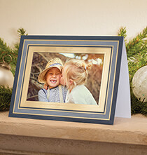 Holiday Cards - Simply Classic Navy Photo Christmas Card, Set of 18