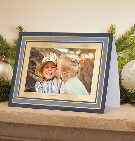 Simply Classic Navy Photo Christmas Card, Set of 18