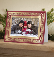 Holiday Cards - Regal Borders Red Photo Christmas Card, Set of 18