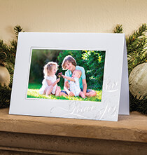 Holiday Cards - Peace Love Joy Photo Christmas Card Set of 18