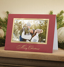 Holiday Cards - Traditional Merry Christmas Photo Christmas Card Set of 18