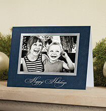 Holiday Cards - Traditional Happy Holidays Photo Christmas Card