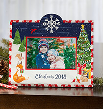 Gifts for Grandparents - Personalized Winter Frolic Christmas Frame