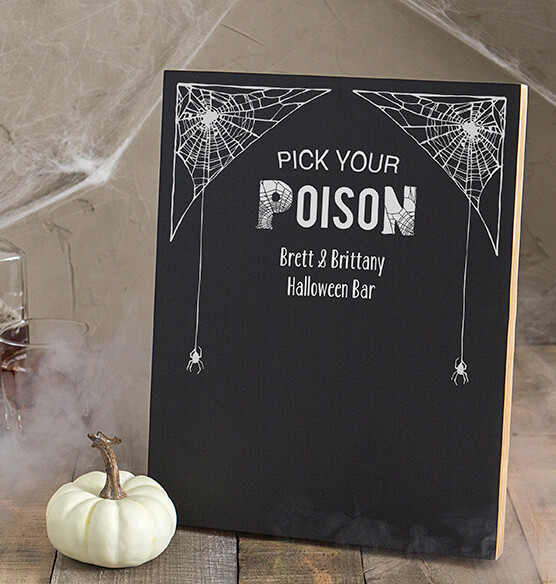 Personalized Pick Your Poison Chalkboard - View 1