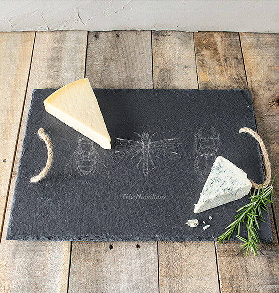 Personalized Halloween Insect Slate Serving Tray