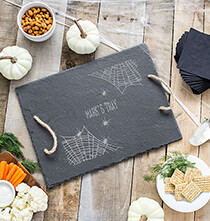 Personalized Spider Web Slate Serving Tray