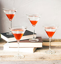 Personalized Spooky Martini Glasses Set of 4, 10 oz.