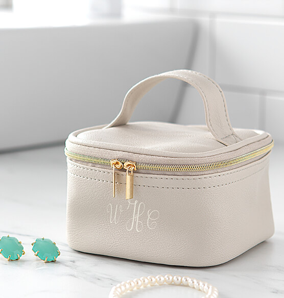 Personalized Travel Jewelry Case