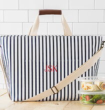 Entertaining for Her - Personalized Striped Large Cooler Tote