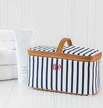 Accessories for Her - Personalized Striped Cosmetic Case