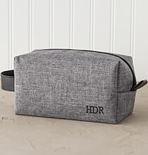 Accessories for Him - Personalized Grey Dopp Kit