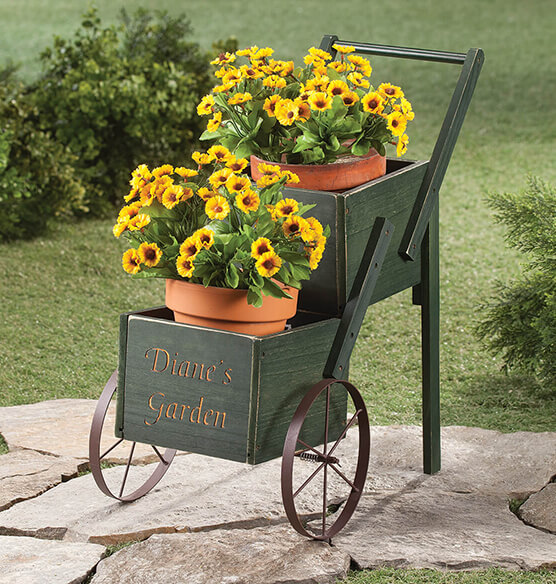 Personalized 2-Tier Garden Trolley - View 1
