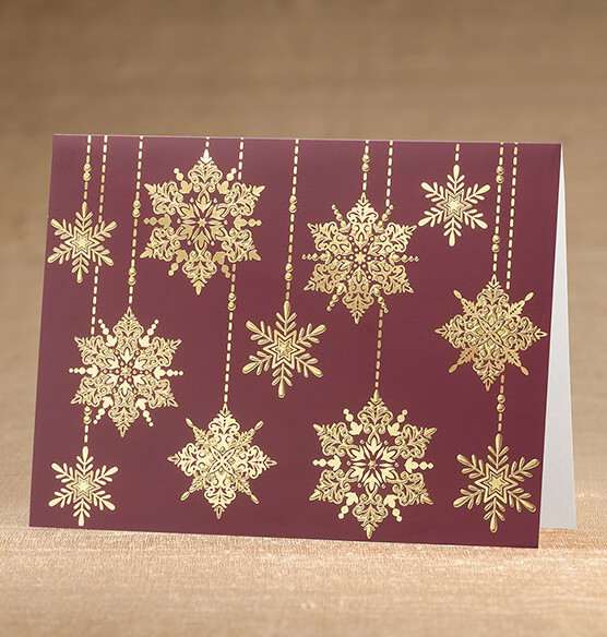 Frosted Droplet Christmas Card, Set of 18