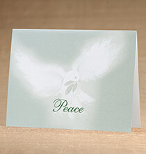 Holiday Cards - Peaceful Offering Christmas Card, Set of 18