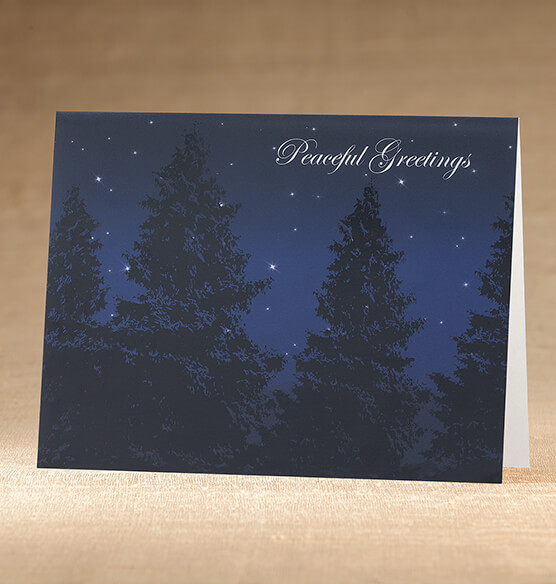 Peaceful Evening Christmas Card, Set of 18