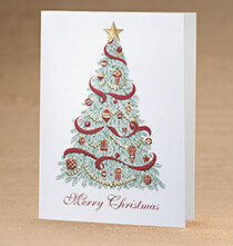 Christmas Trimmings Christmas Card, Set of 18