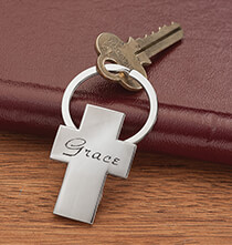 Accessories for Her - Personalized Cross Key Ring