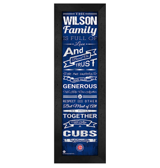 Personalized Family Cheer Chicago Cubs