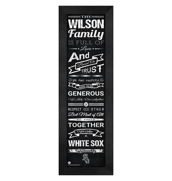Personalized Family Cheer Chicago White Sox