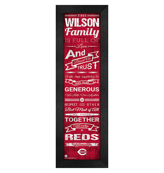 Personalized Family Cheer Cincinnati Reds