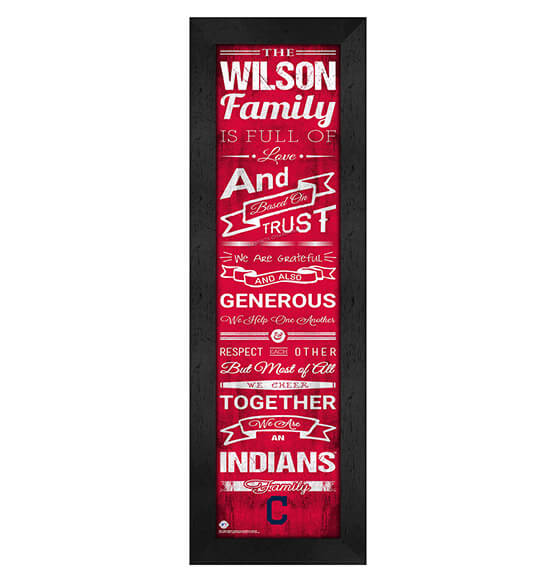 Personalized Family Cheer Cleveland Indians