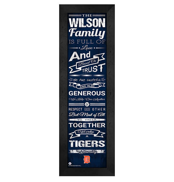 Personalized Family Cheer Detroit Tigers