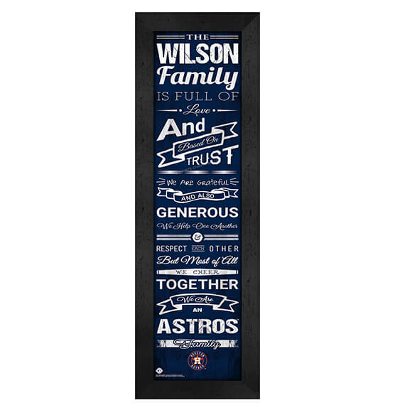 Personalized Family Cheer Houston Astros