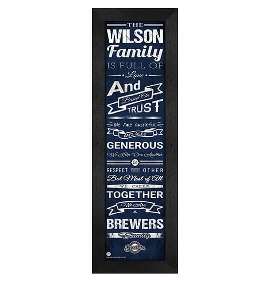 Personalized Family Cheer Milwaukee Brewers