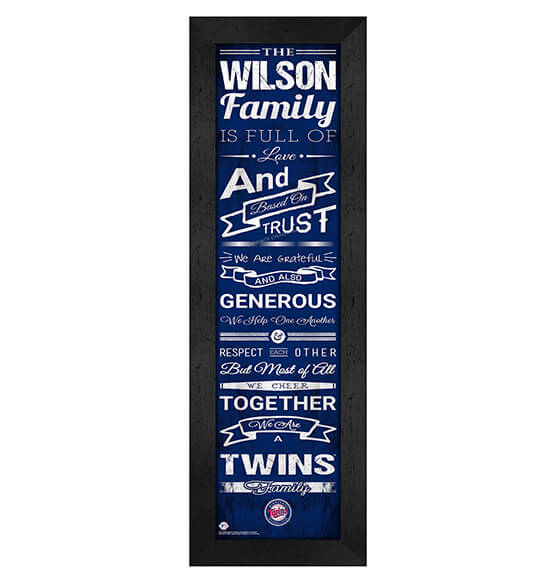 Personalized Family Cheer Minnesota Twins